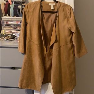 Suede H&M trench barely worn